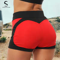 Women Yoga Shorts High Waist Push Up Quick Dry Breathable Sports Running Fitness Heart-shaped Beach Shorts Swimming yoga Leggins