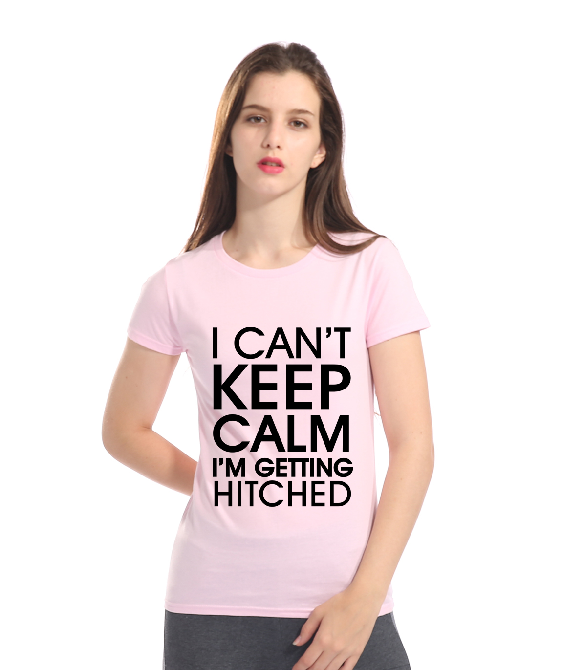I CANT KEEP CALM IM GETTING HITCHED 2018 Summer Short Sleeve T-shirts Casual Cotton Shirt Top Tees Female T-shirt Kpop Lady