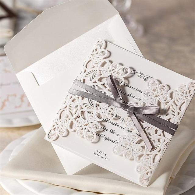 20pcs Lot Wedding Invitation Card Laser Cut Invitations Christmas Pop Up Cards Blank