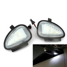 2x White Error Free LED Side Mirror Puddle Light For vw Golf 6 2009 Cabriolet Touran