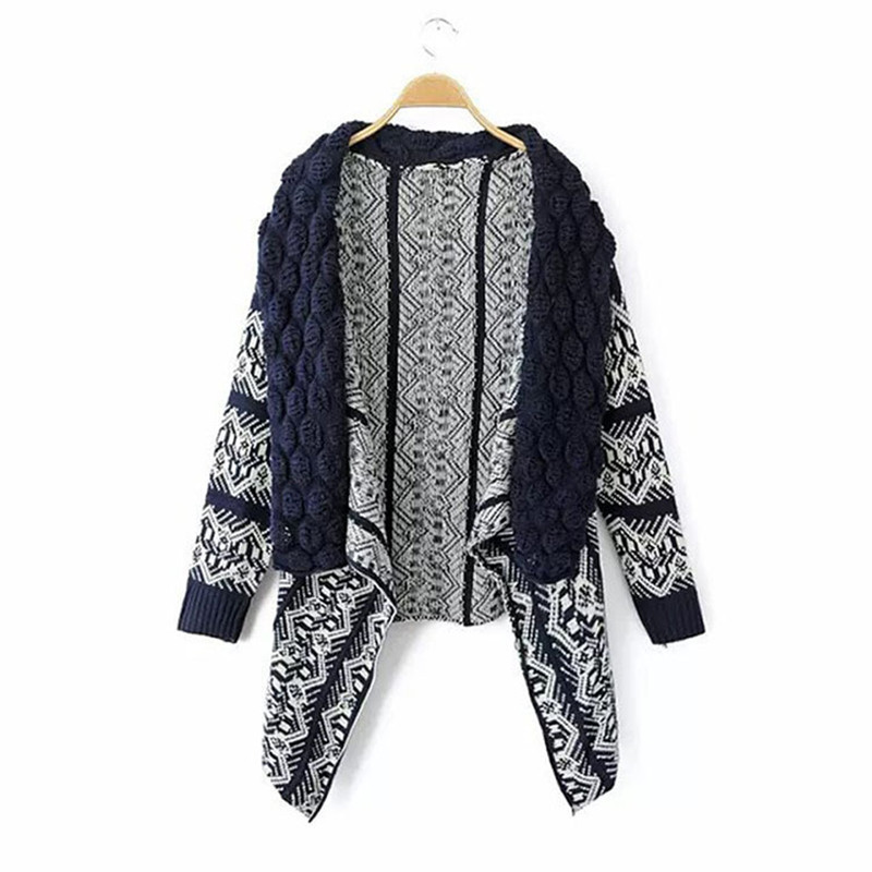 Autumn Spring Women Fashion Cape Sweater Cardigan Wrapped Knitting Crochet Outwear Elegant Office Ladies Coat Jacket Streetwear