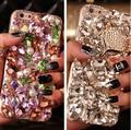 3D Горный Хрусталь Diamond Case Cover For Samsung Galaxy C5 S3 S4 S5 S6 S7 примечание 2 Примечание 3 Примечание 4 Примечание 5 Примечание 7 Роскошные Bling Задняя Крышка