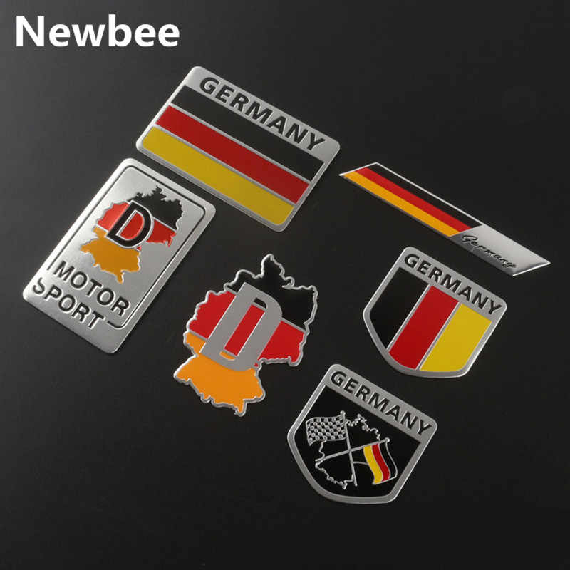 Newbee 3D France Russia German Italy Flag Emblem Badge Sticker Decal Accessories For Peugeot Citroen Renault DS Toyota VW