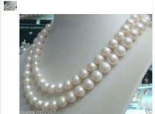Women Gift Freshwater Long 9-10mm Natural White Cultured Pearl Fashion Jewelry Necklace 48
