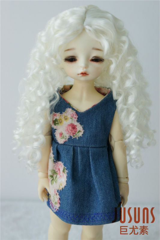 JD320  YOSD Synthetic mohair doll wigs  6-7inch YOSD Long curly Princess BJD hair
