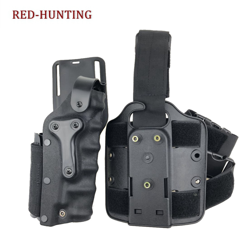 Security & Protection Security Alarm M92 96 Drop Leg Holster Set Of Pistol & Magazine Pouch Black Hawk Close Quarters Concealment Hunting Accessories Wholesale