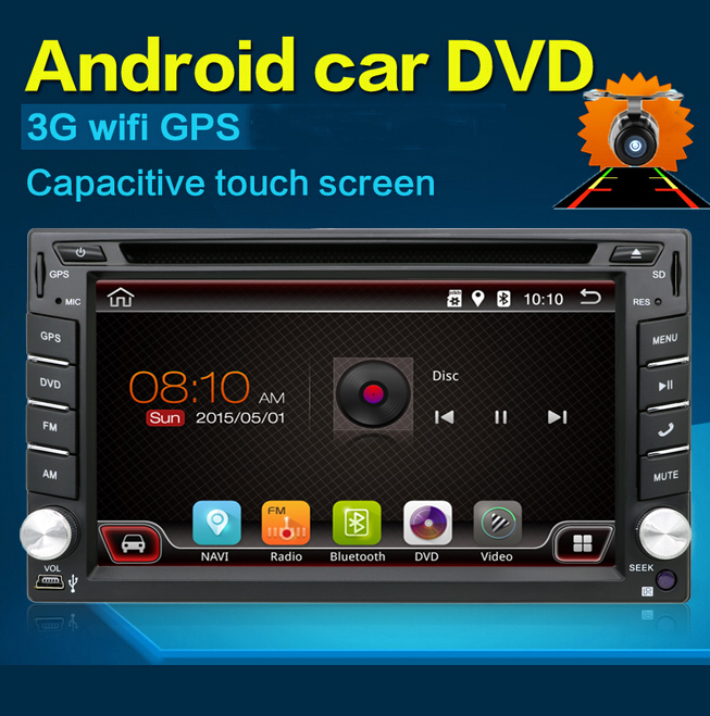 Universal 2 din Android 6.0 Car DVD player GPS+Wifi+Bluetooth+Radio+1.2GB CPU+DDR3+Capacitive Touch Screen+wifi+car pc+audio android 6 0 car dvd stereo fastest 2ghz quad core capacitive multi touch double 2 din car pc cd stereo gps tv bt wifi 3g camera