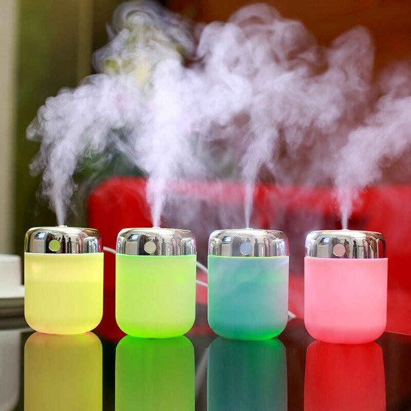 180Ml Air Humidifier Oil Diffuser Mini LED Night Light Aroma Mist Maker Purifier