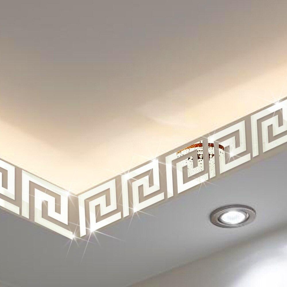Haus & Garten Diszipliniert Geometrische Baseboard Spiegel Wand Aufkleber Taille Linie 3d Acryl Diy Dekoration Aufkleber Wandbild Autocollant 10 Stücke 10*10 Cm Wandaufkleber