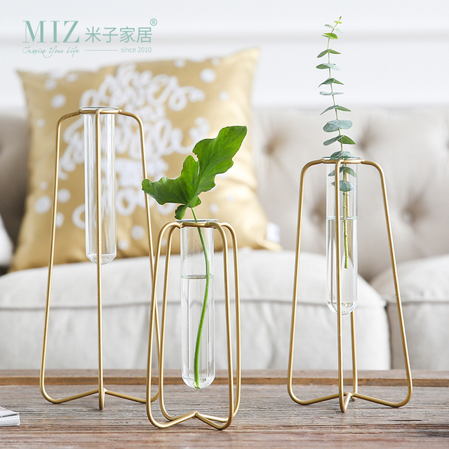Aliexpress Buy Miz 1 Piece Vase For Decoration Tube Vase Metal