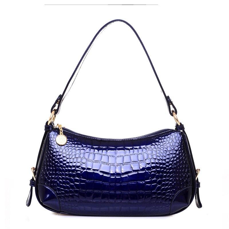 Alligator Women Handbags Luxury European Hobos Patent Leather Ladies Shoulder Bags Female Girl Crossbody Bag