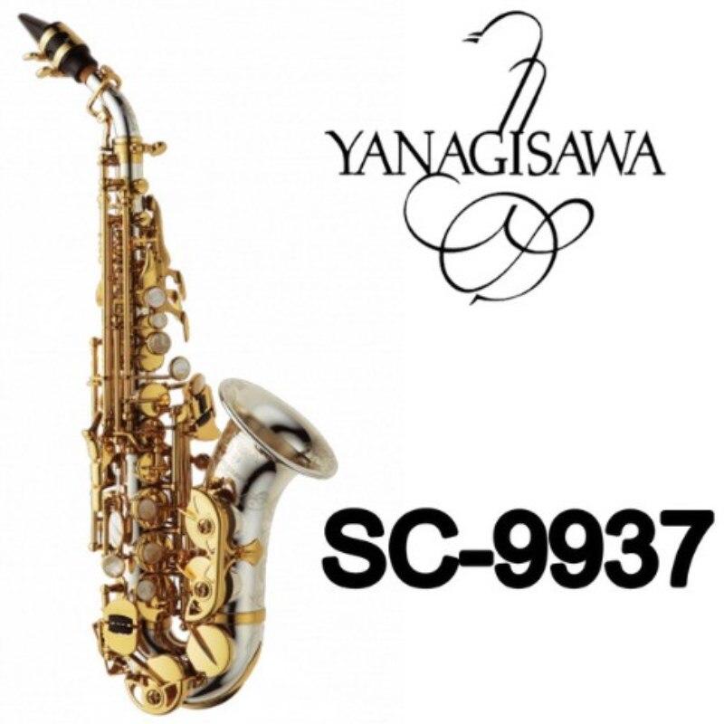 Янагисава изогнутые сопрано саксофоны SC 9937 серебрение латунь Sax Professional мундштук патчи колодки трости изгиб средства ухода за кожей Шеи