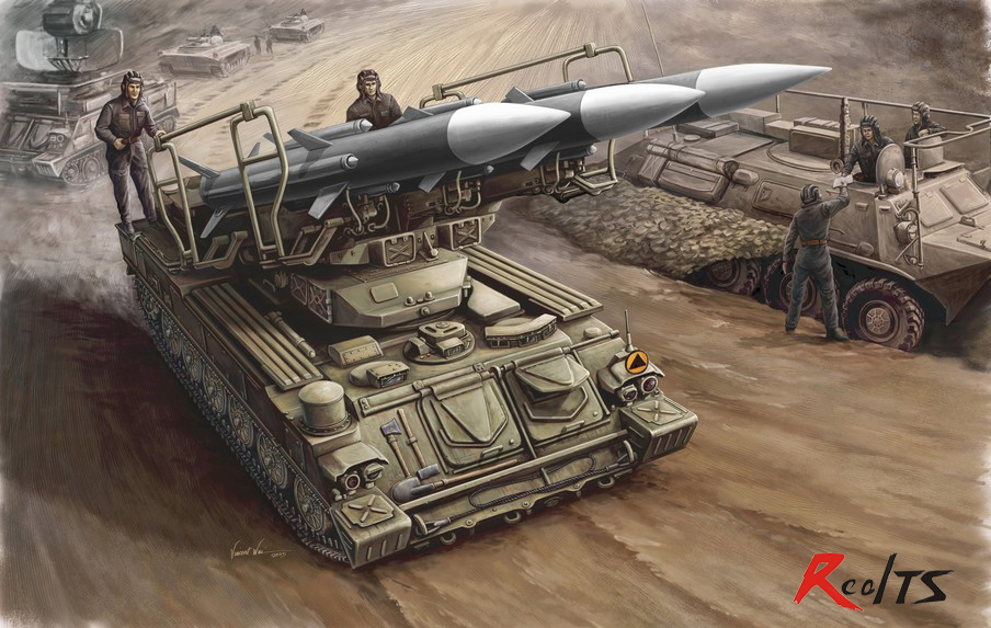 RealTS Trumpeter 00361 1/35 Russian SAM-6 Antiaircraft Missile