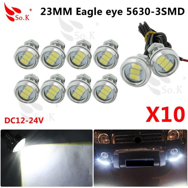 10pcs Parking Light 23mm Eagle Eye Led Car Lights DRL Daytime Running Light  12V 9W Fog