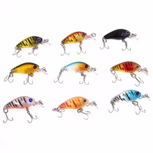 Здесь можно купить   2015 Hot Sell New Arrival Lot 9pcs Plastic Fishing Lures Bass CrankBait Crank Bait Tackle 4.5cm/4g Free shipping H1E1 Fishing