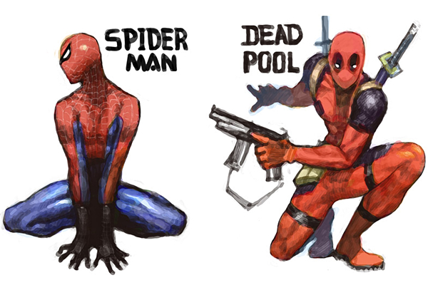 Deadpool Poster Spiderman Marvel Legends Canvas Prints Marvel Comics