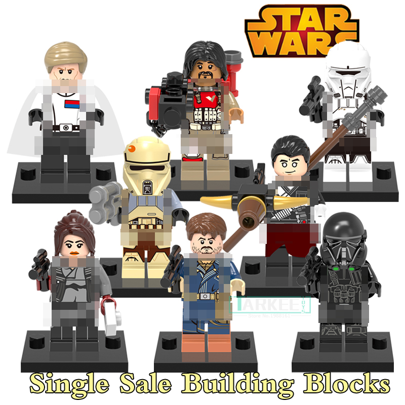 Building Blocks Jyn Erso Chirrut Imwe Cassian Andor Imperial Death Trooper Star Wars Super Heroes Figures Kids Toys Hobbie X0139 3pcs set imperial hovertank pilot death trooper shoretrooper diy figures starwars superheroes building blocks new kids toys xmas