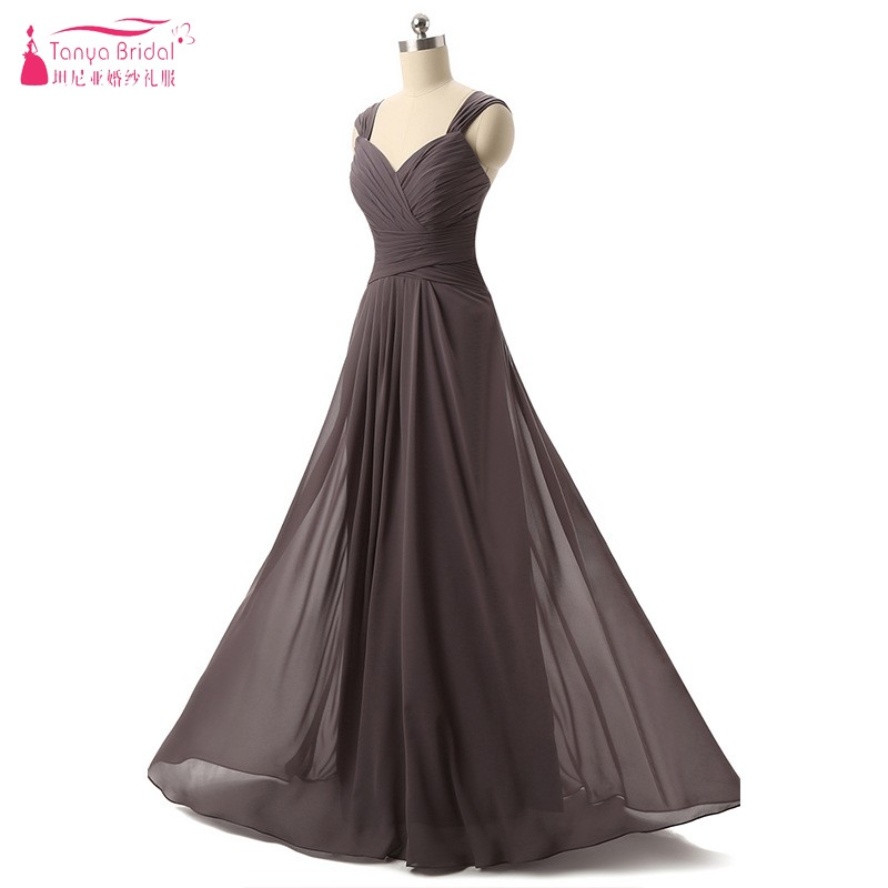 Long Chiffon Brown   Bridesmaid     Dresses   2018 robe demoiselle d' Simple   bridesmaids     dresses   for women vestido de festa DQG138