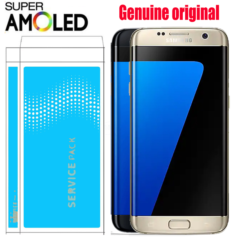 5.5'' SUPER AMOLED LCD with frame for SAMSUNG Galaxy s7 edge G935 G935F Display