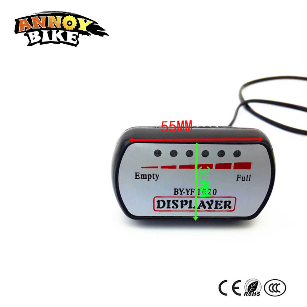 48V Voltage Lithium Battery  Electric Car Battery Power Display Meter Waterproof Electric Bike Electricity Meter Battery Power