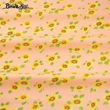 Booksew Cotton Poplin Fabric Children's Bed Sheet Home Textile Sunflower Dress Skirt Cushion Crafts Patchwork Fat Quarter Meter(China)