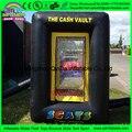 Tipo caja de dinero Efectivo Cubo Inflable, inflable cajero/Dinero agarrando la máquina para la venta
