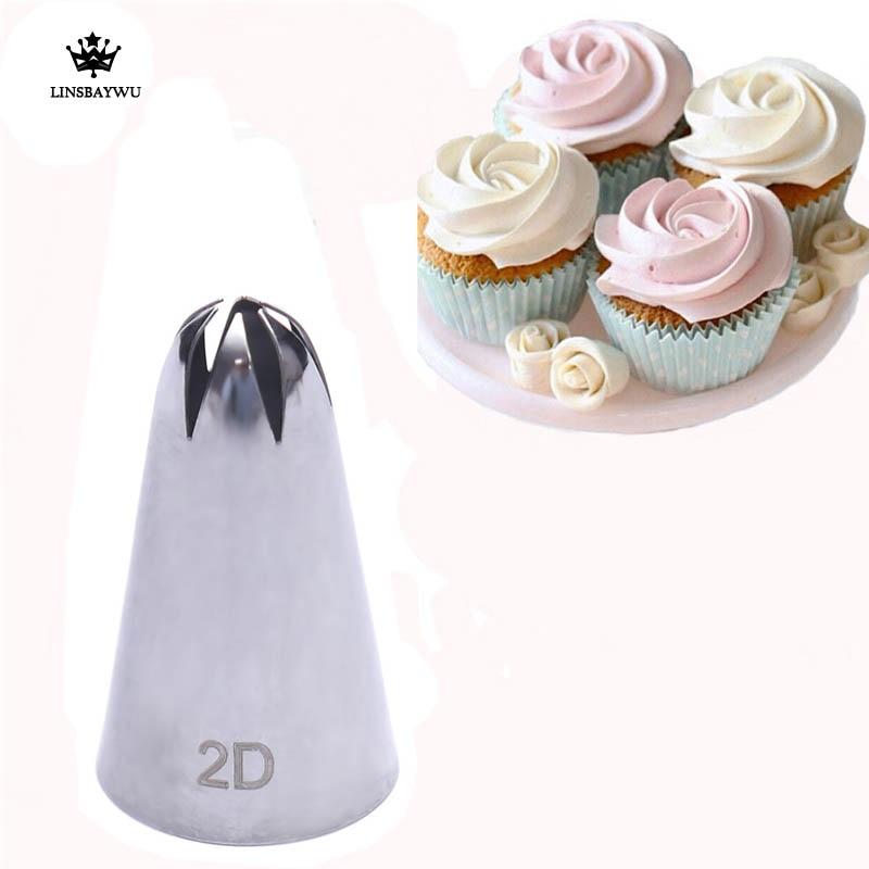 Wilton 2D Large Drop Flower Cake Baking Decorating Icing Tip Nozzle Sugarcraft