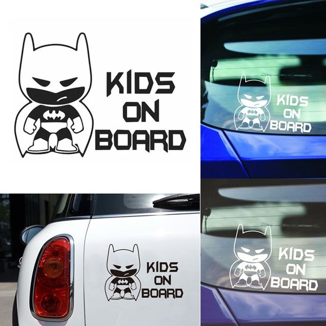 1 pcs funny batman kid on board auto vinyl sticker car window bumper sticker