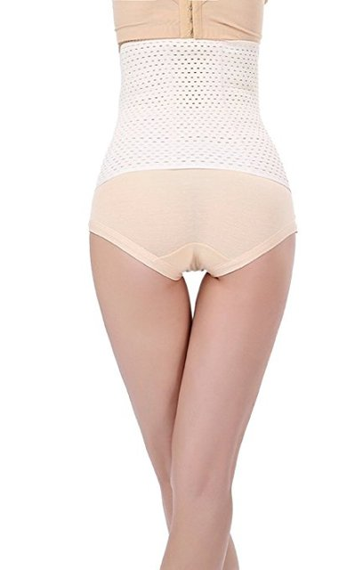 Breathable Elastic Waist Trimmer Abdominal Binder Post-pregnancy Belly Band Tummy Compression Postpartum Postnatal Recovery 1