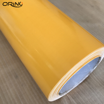 1.52x5/10/15/20/25/30m Car styling Yellow Glossy Vinyl Film Car Sticker Foil With Air Bubble Free Motorcycle Car Wrap Wrapping