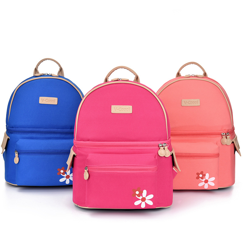 New Arrival Fashion Thermal Baby Bottle Bag Backpack Feeding Insulation Holder Maternal Nappy Storage DCO