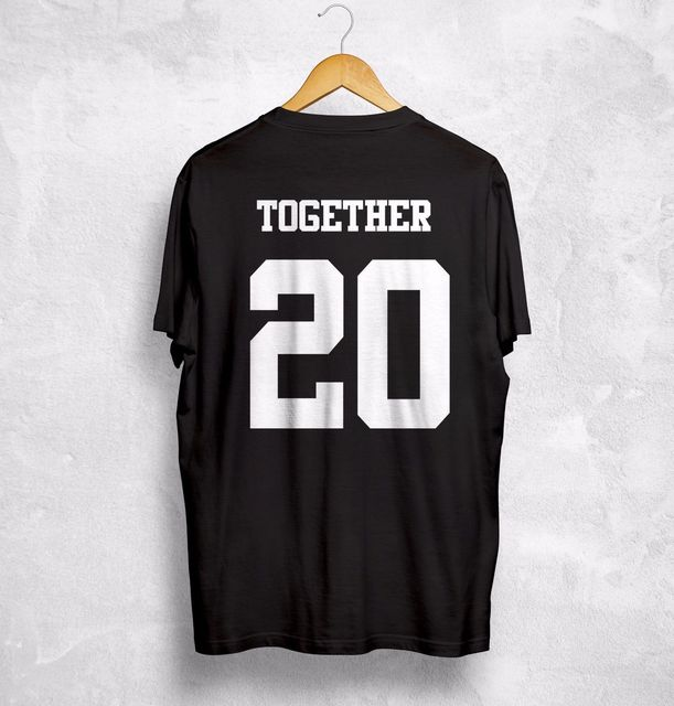 5cd7c26f57 Together Since Any Year T Shirt Personalized Custom Valentines Gift ...
