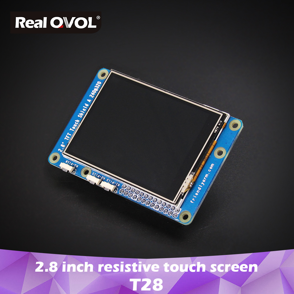 RealQvol FriendlyELEC 2.8 Inch Resistive Touch Screen LCD T28 240x320 For Nanopi Uses ST7789S XPT2046 IC SPI Interface
