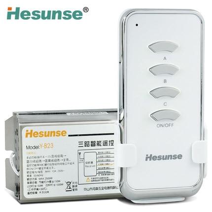 Free shipping New Y-B23 Three Channels Digital Wireless Remote Control Switch 220V 110V free shipping y b23 2n1 220v 315mhz 10a