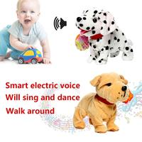 Cute Smart Robot Dogs Sing Song Walking Short Plush Toy Plastic Bark Stand Walk Electronic Pets