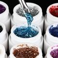12pcs Nail Art  Colors Manicure UV Gel Mix Glitter Buliding Polish Set Pigment Builder Acrylic Tips Glue