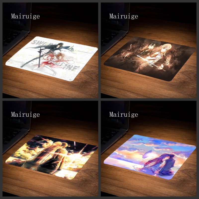 Mairuige Hot Selling Game Mousepad Sword Art Online Best Rubber Anti Slip Computer Gaming Mouse Pad Hight Quality Mouse Pad