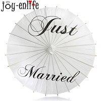 Nowy Arriavl Just Married/Dziękuję/Pan i Pani wydrukowano biały Papier Parasol dla Fotografie Ślubne Wedding Decor Papieru Parasol