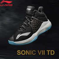 Li-ning hombres SONIC TD en la cancha de baloncesto zapatos de espuma ligera transpirable TPU forro de apoyo calzado deportivo zapatillas ABPP029 XYL249
