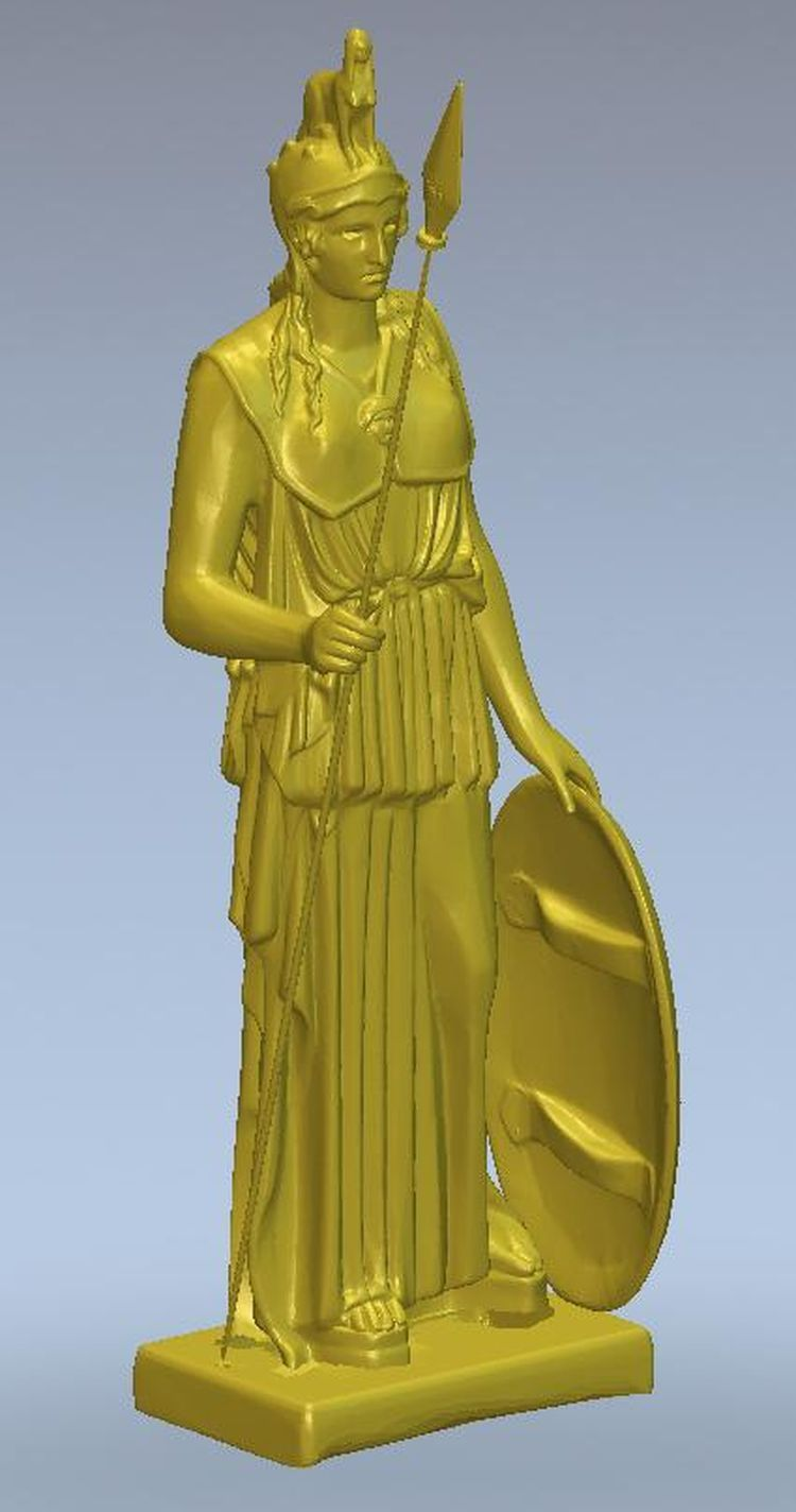 3d model relief  for cnc or 3D printers in STL file format Girl with a shield 3d model relief for cnc in stl file format the girl from the bathroom