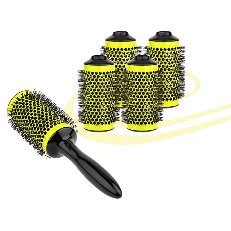 Aliuminio apvalių kirpyklų plaukų salonų įrankiai Plaukų - Plaukų priežiūra ir stilius - Nuotrauka 2