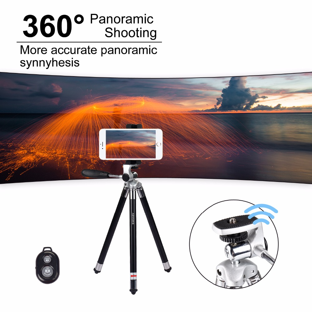 ASHANKS Aluminum Mini Tripod for Phone with Clip Bluetooth Camera Stand for  iPhone Xiaomi Huawei Smartphone Gopro Accessories