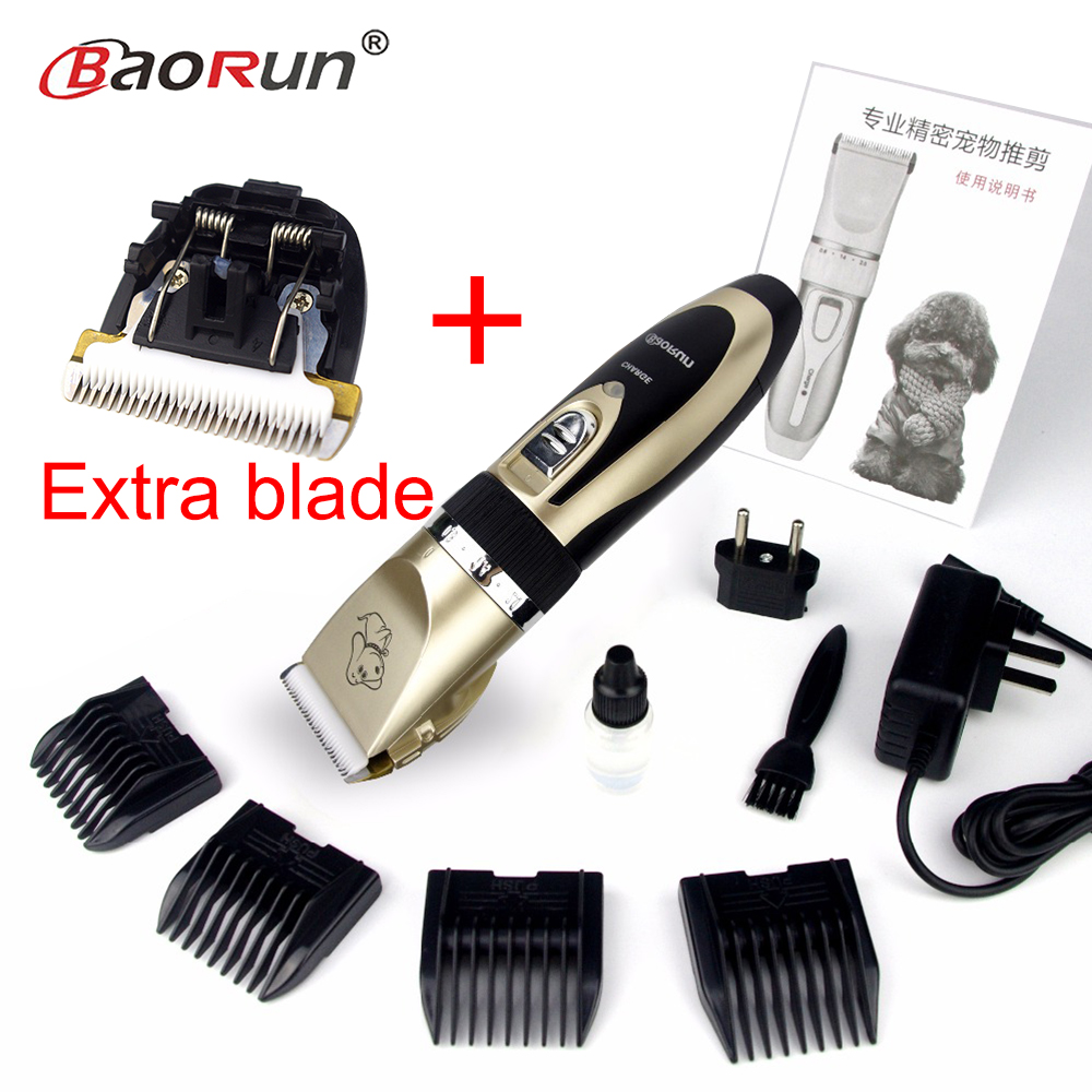 Professional Rechargeable Pet Cat Dog Hair Trimmer Electrical Dog Hair Clipper Grooming Shaver Set Pets Haircut Machine