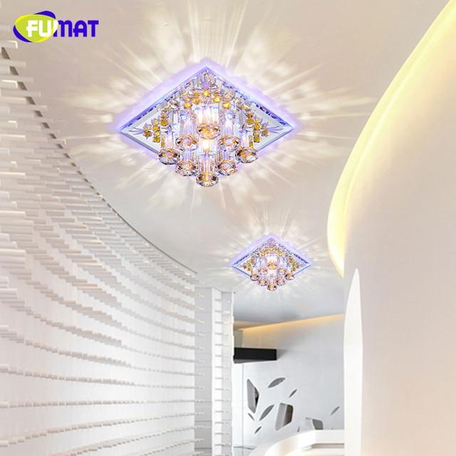 FUMAT Crystal Ceiling Light LED 5W Square Indoor Aisle Lighting Entrance Hallway Sconce Lights Lamp Decor Lustre Ceiling Lights
