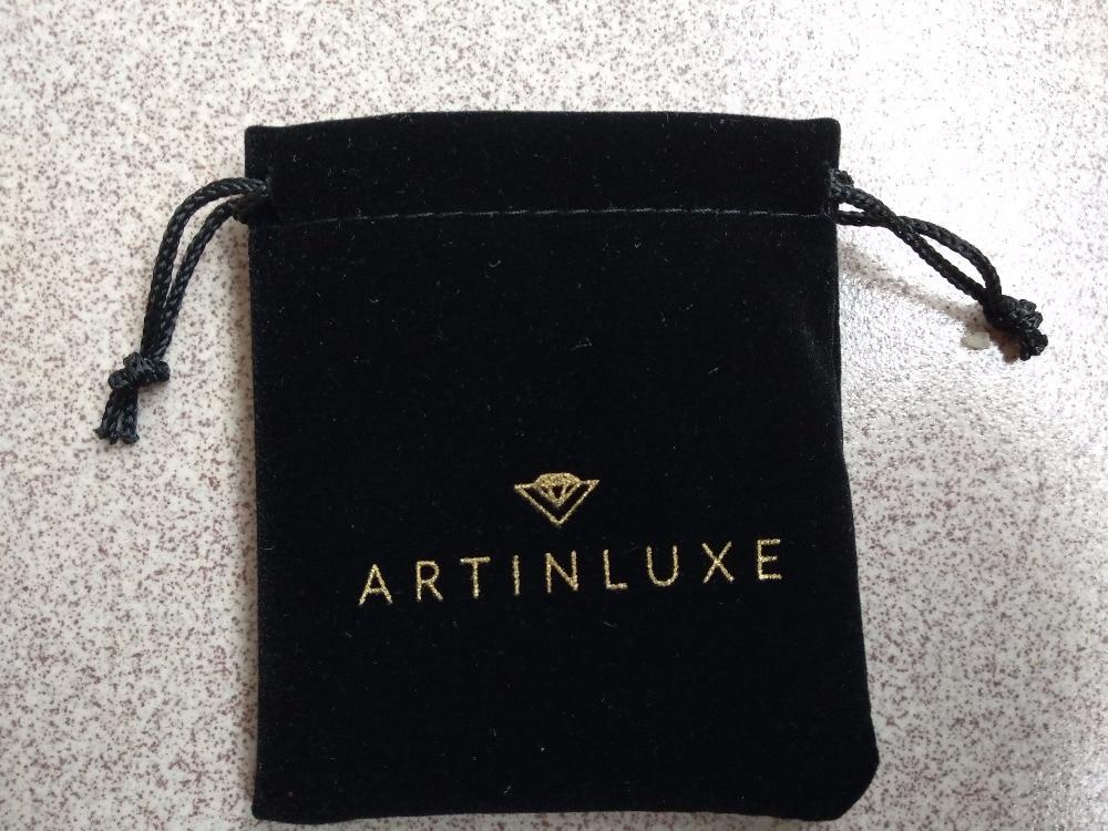 HIgh quality balck velvet jewelry bag custom 85*9cm velvet drawstring jewelry bracelet bags with logo