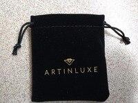 HIgh quality balck velvet jewelry bag custom 8.5*9cm velvet drawstring jewelry bracelet bags with logo