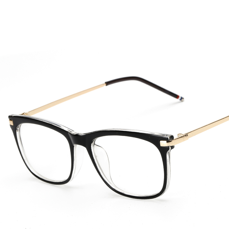 2016 fashion black plastic glasses frame women retro optical clear myopia designer brand eyeglasses frame men cj8168