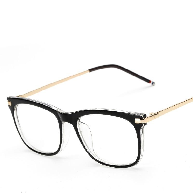 2016 fashion black plastic glasses frame women retro optical clear myopia designer brand eyeglasses frame men cj8168