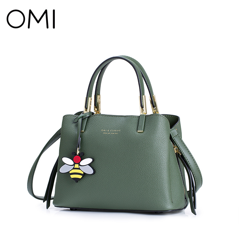 OMI shoulder bag popular female solid color female bag European and American fashion simple handbag diagonal package velvet bagthe european and american fashion small package pure color lock one shoulder inclined shoulder women2018messenger bag