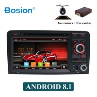 Bosion Octa core Android 9.0 2 DIN CAR DVD GPS For Audi A3 8P 2003 2012 multimedia player with steering wheel control BT WIFI